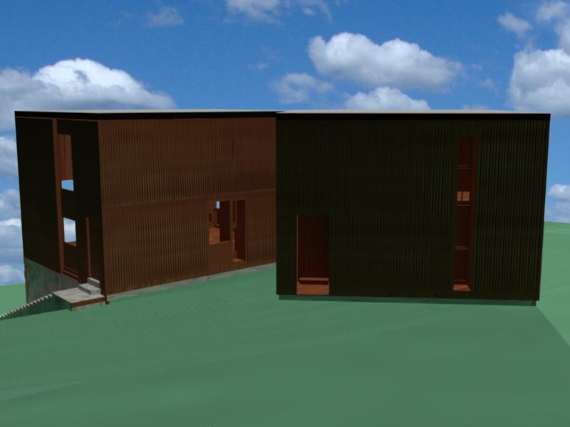 Camino Esterno Dwg : Kahn louis fisher house
