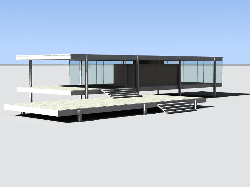 Mies van der rohe ludwig casa farnsworth for Planimetria semplice con dimensioni