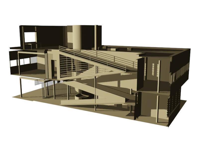 Interni Di Villa Savoye : Villa savoye u le corbusier u cabiriams