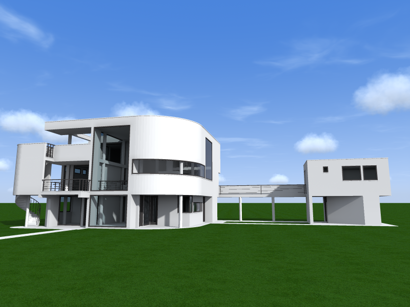 Meier richard saltzman house for Creatore del piano casa 3d