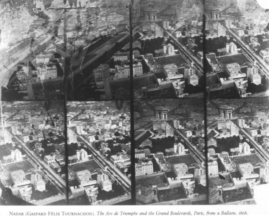 Parigi dall'aerostato - Nadar 1868